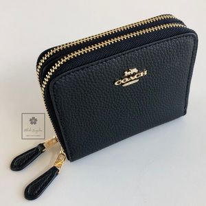 Coach - Double Zip-Around Wallet - Logo (Black)